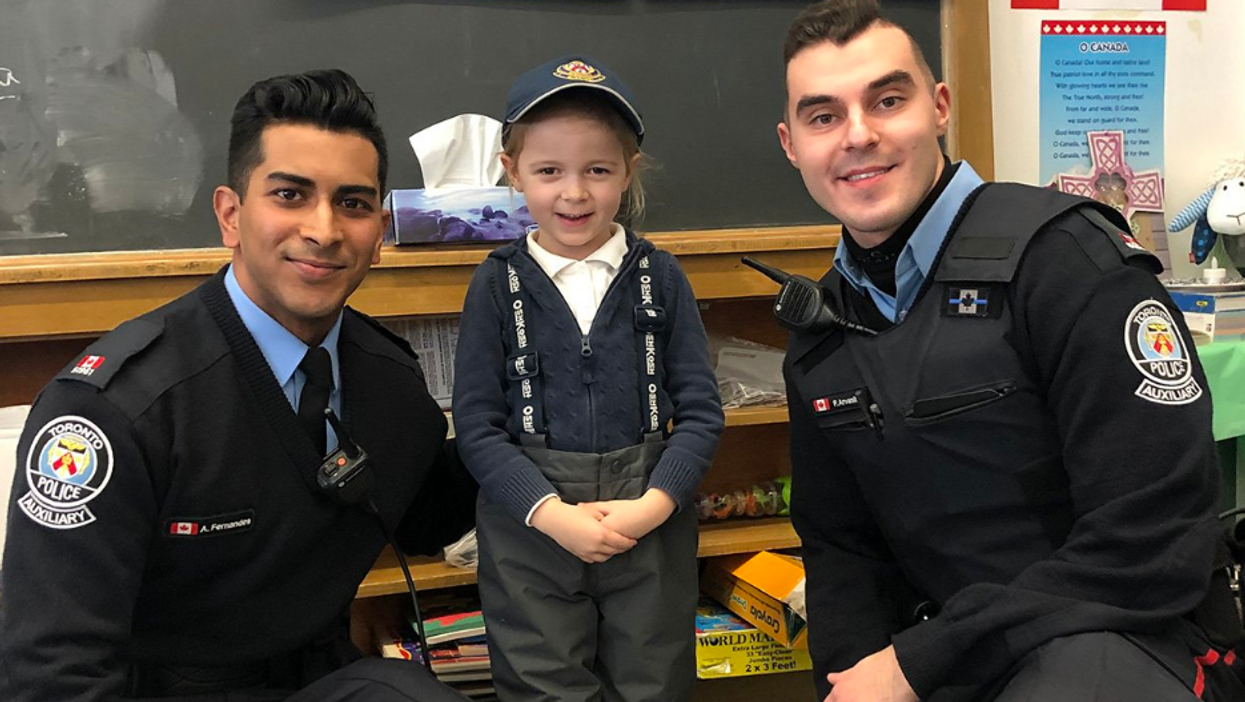 Toronto Police Members Help A First-Grader Overcome Stage Fright In The Cutest Way Ever