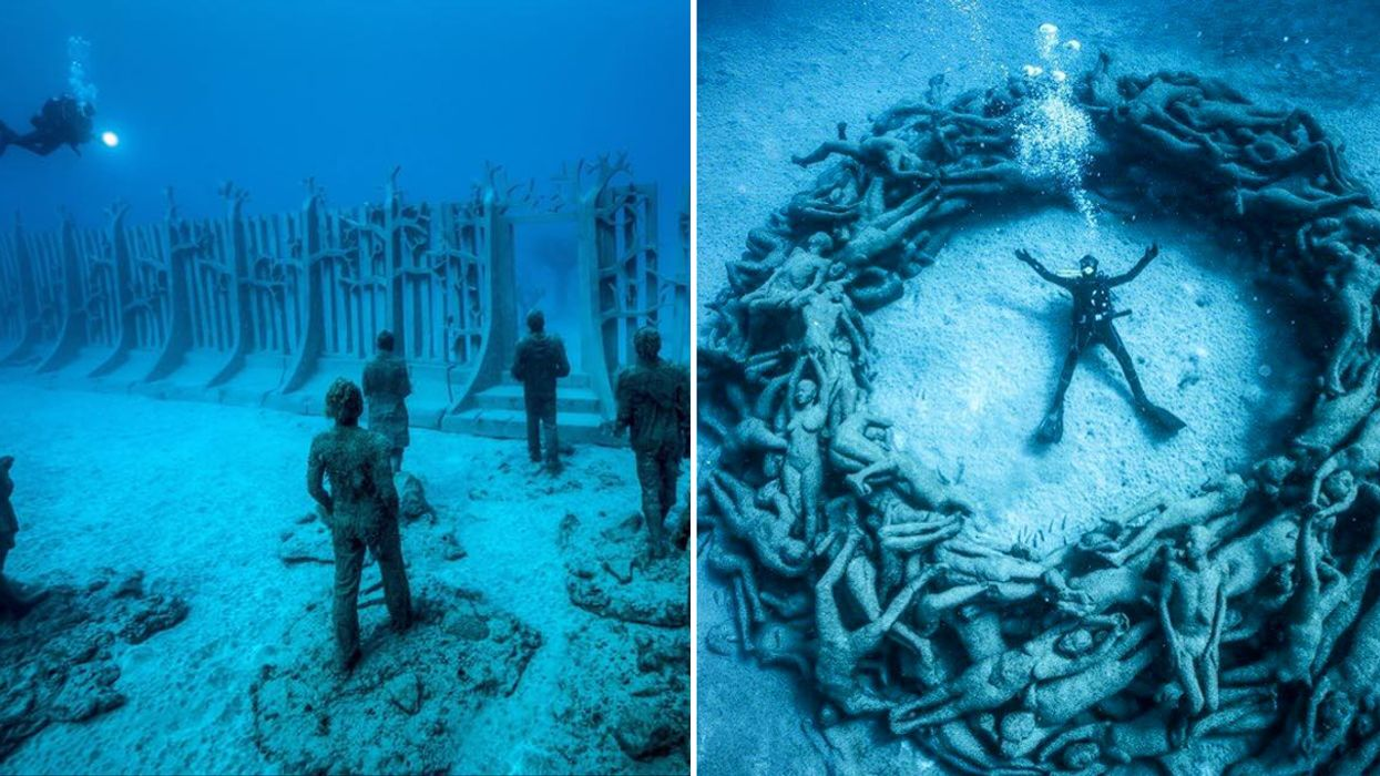 You Can Now Swim In The World's First Underwater Museum In Europe