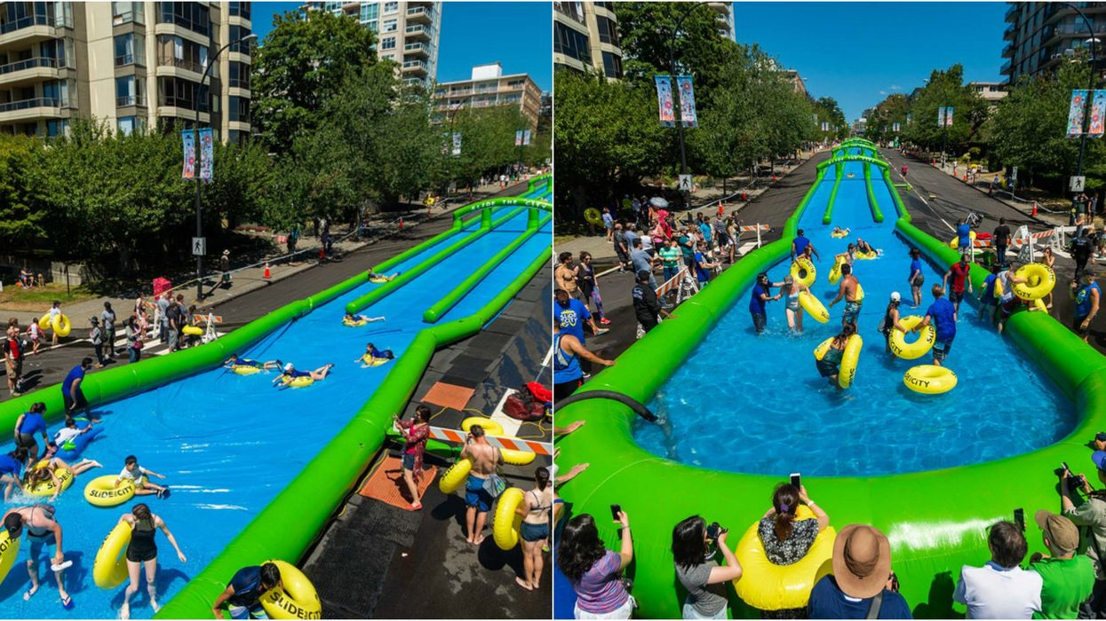 You Can Slide Down An Epic 1,000 Foot Long Water Slide In Vancouver This Summer