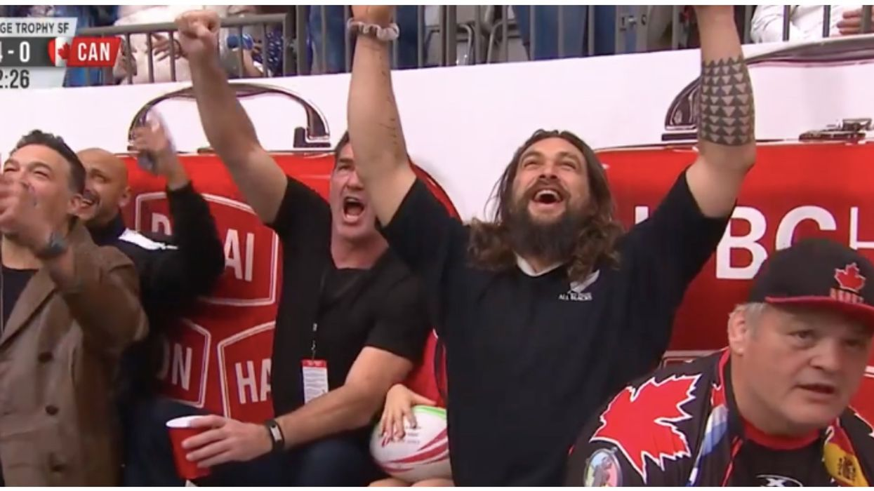 Actor Jason Momoa Just Won Over Our Hearts At The Rugby Sevens Game In Canada This Weekend (VIDEOS)