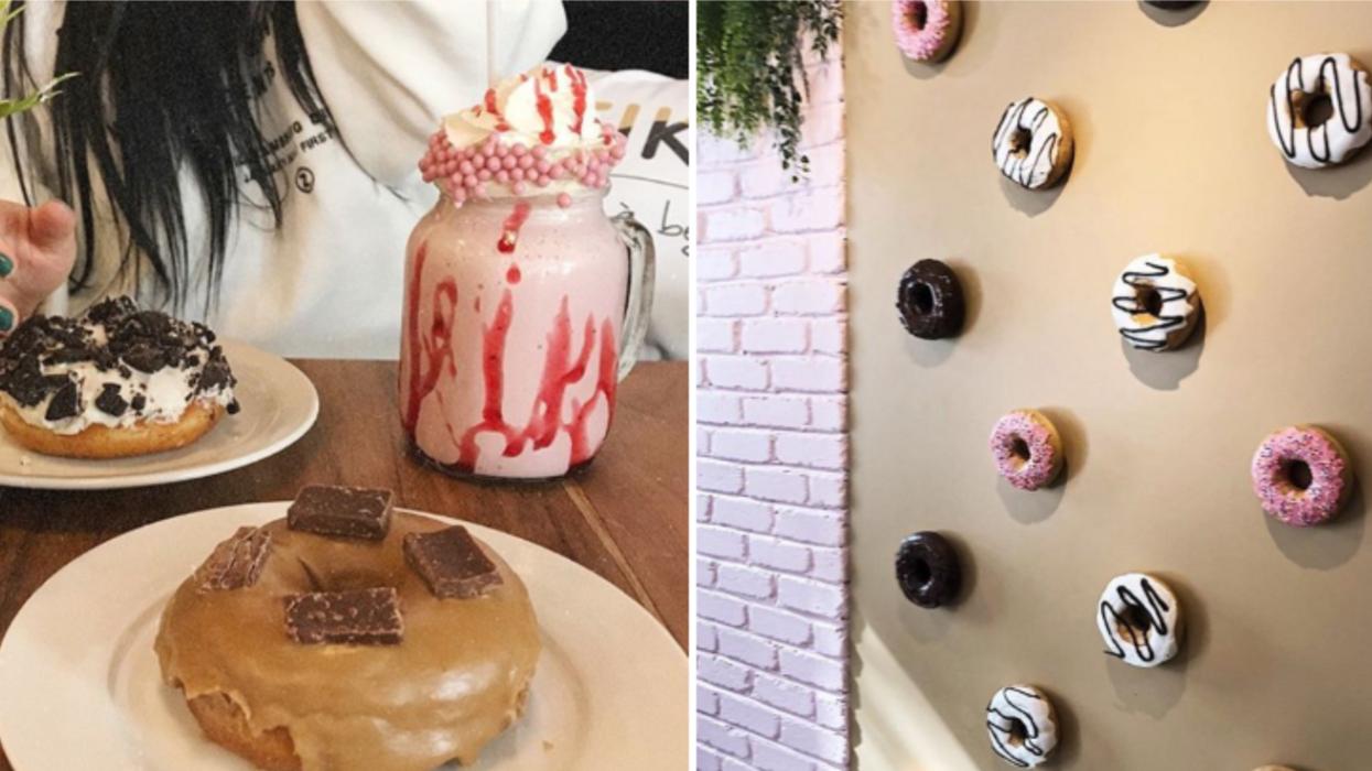 Cette boîte à beignes à Québec a un mur complet en beignes et c'est aussi cochon qu'Instagrammable
