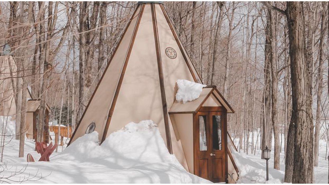 Un tipi de luxe existe près de Québec et même les « anti-camping » voudront l'essayer