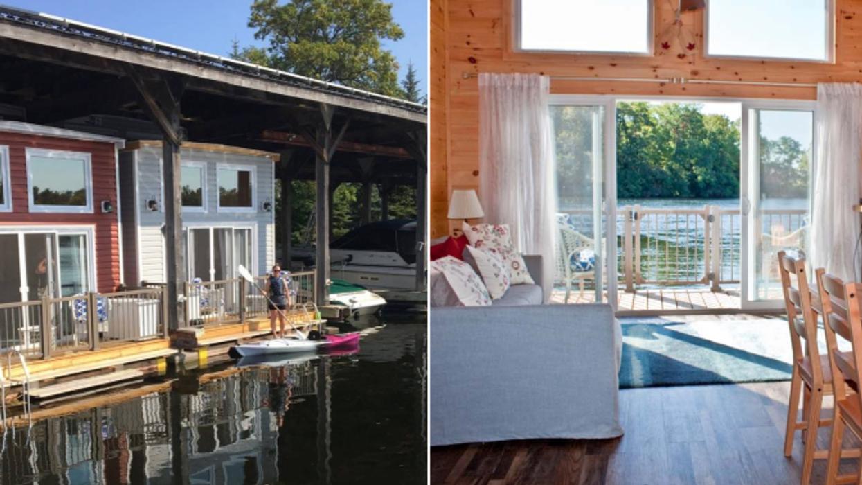 Tu peux dormir dans ces adorables maisons flottantes à quelques heures de Montréal