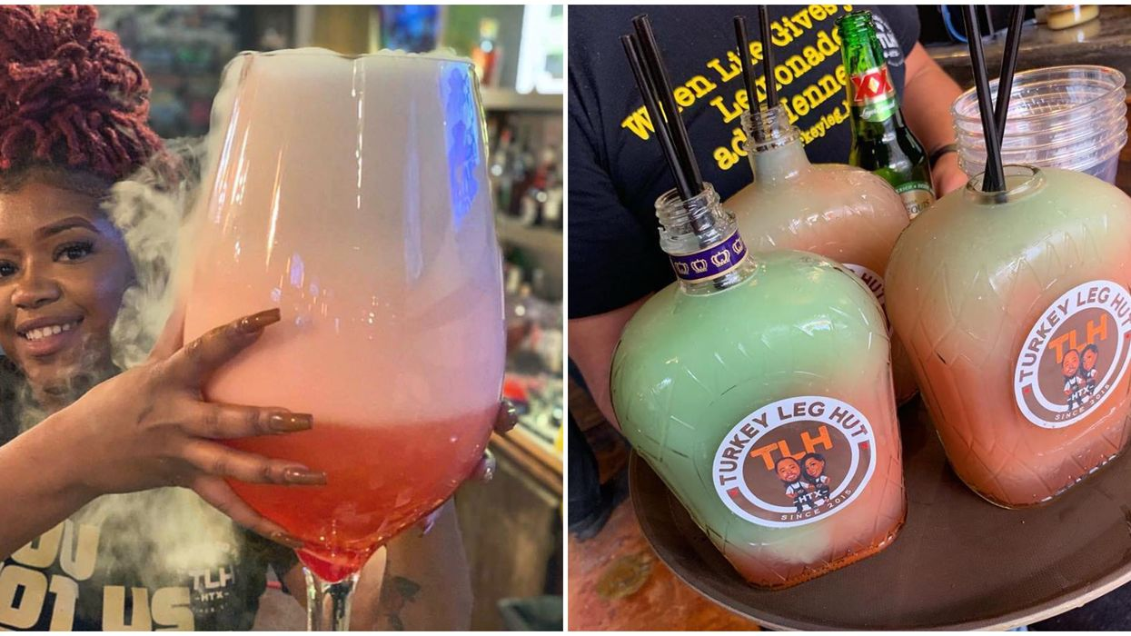 This Insane Houston Spot Serves The Largest Drinks In Texas