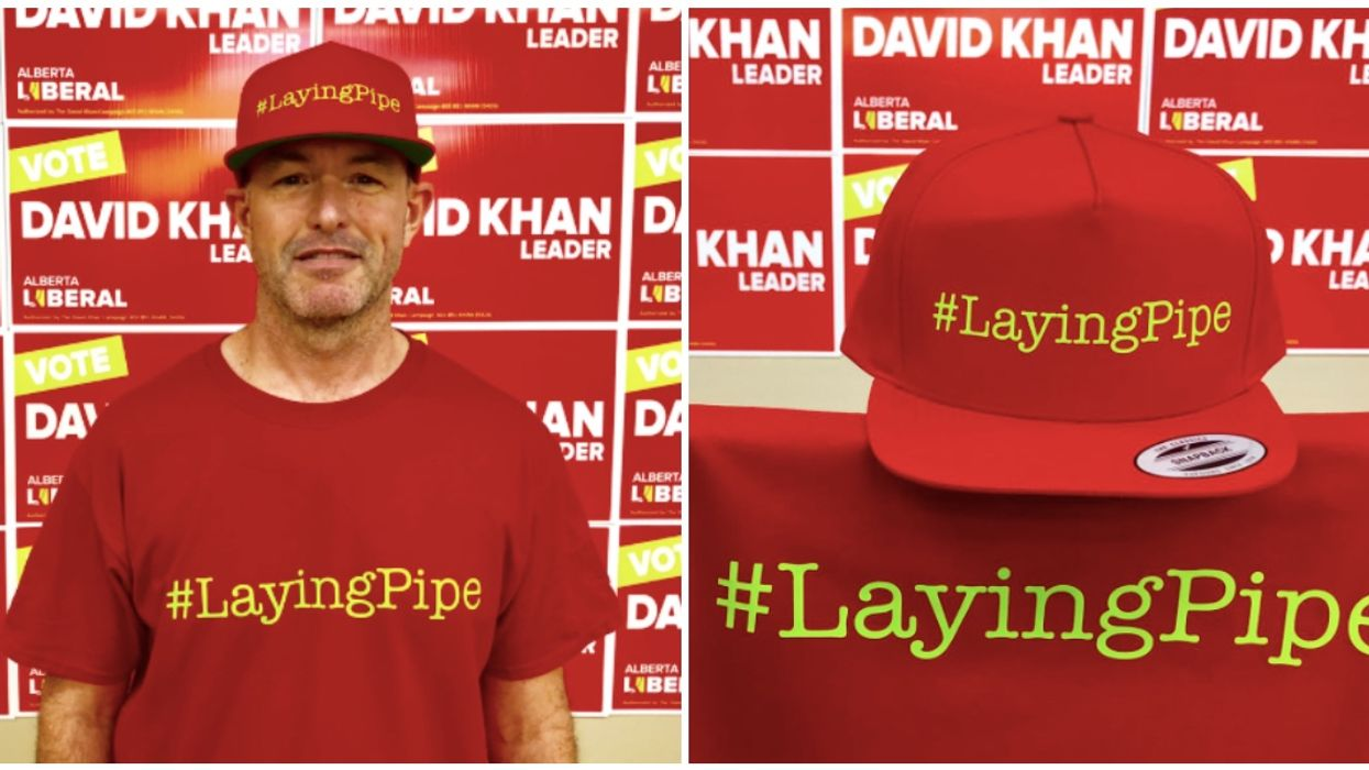 """Alberta's Liberal Party Launch New """"Laying Pipe"""" Slogan And The Internet Is Roasting Them For It"""