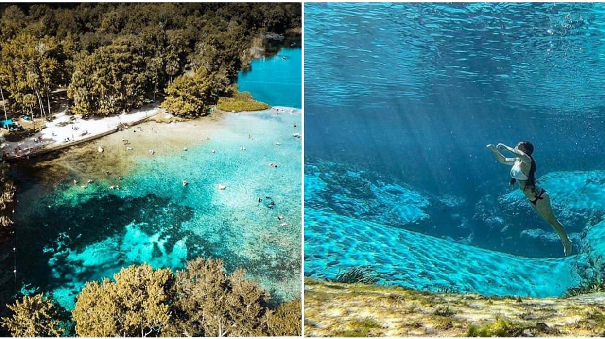 This Beautiful Blue Spring Is Considered To Be The Clearest In All Of Florida