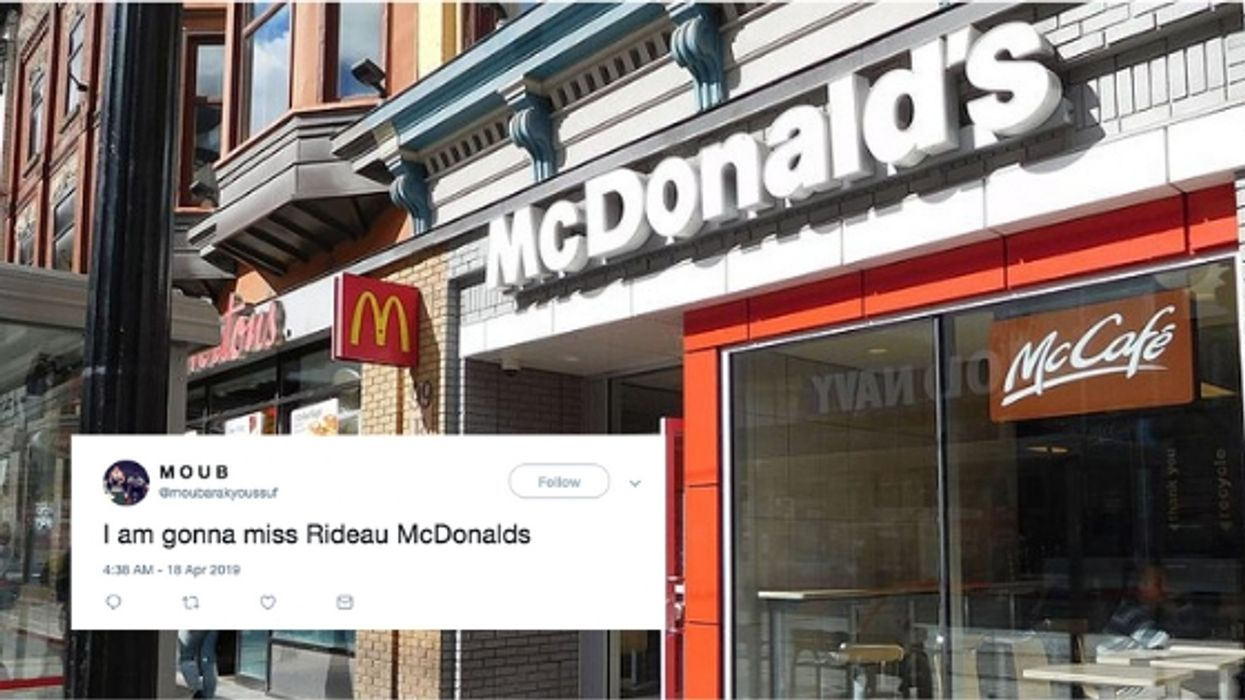 Ottawans Say It's The End Of An Era For The Iconic Rideau Street McDonald's