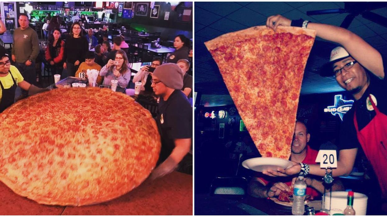 This Insane San Antonio Restaurant Serves The Largest Pizzas In Texas