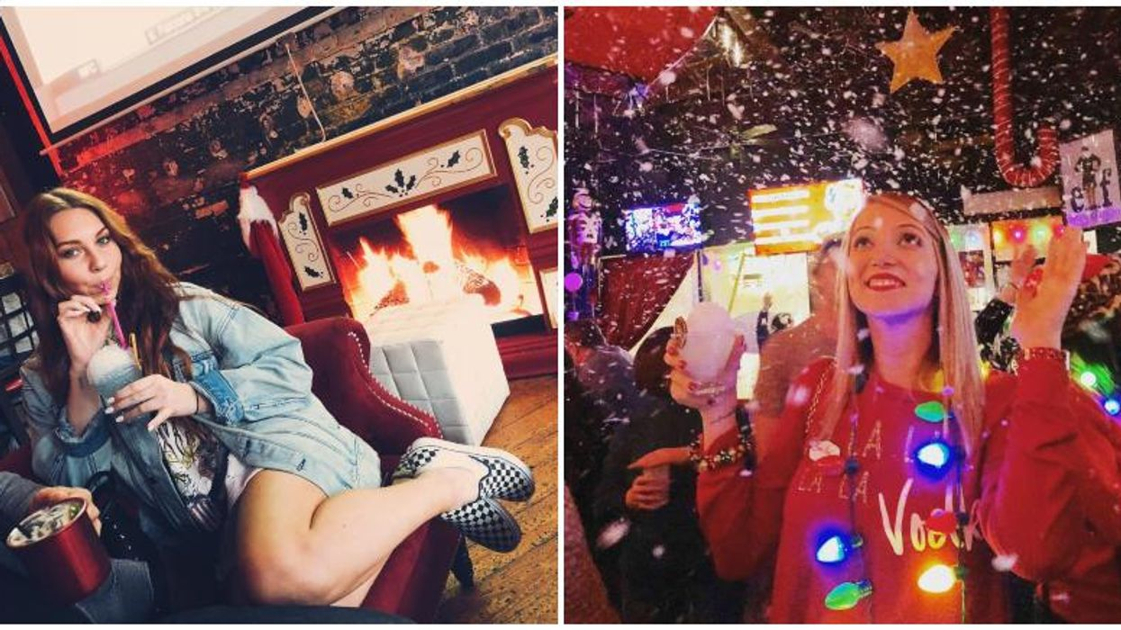 It's Christmas Time Year Round At This Themed Bar In Orlando & It Actually Snows
