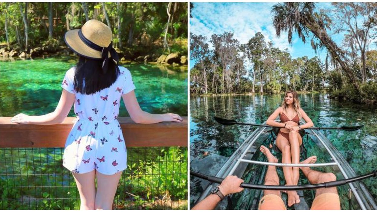 You'll Have To Kayak Your Way Into This Gorgeous Spring Near Tampa