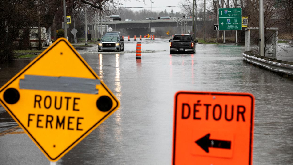 Voici toutes les routes fermées en raison des inondations majeures dans la grande région de Montréal