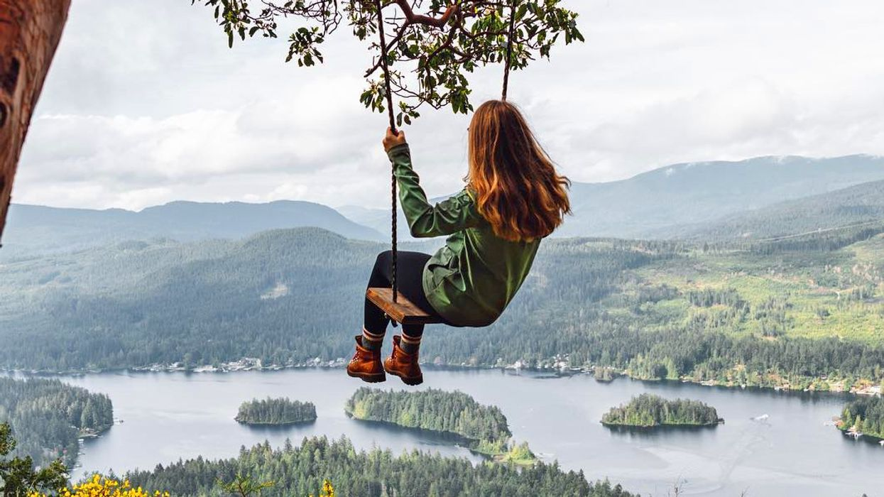 This 3 KM Hike Leads To A Hidden Swing On Top Of A Mountain In BC
