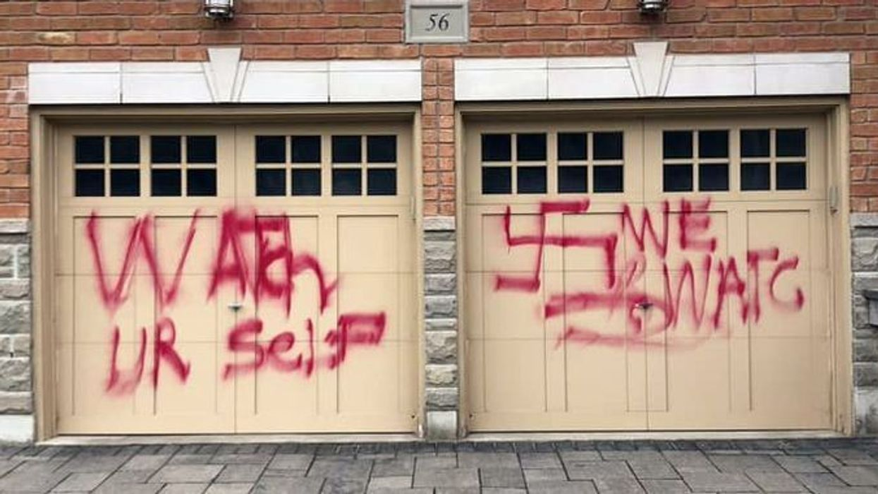 Terrifying Anti-Semitic Threats Were Spray-Painted On A GTA Home Yesterday