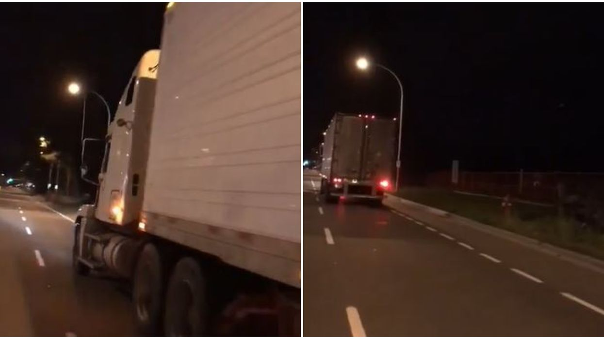 Local Video Shows Truck Driver Allegedly Trying To Kidnap Young Canadian Woman In BC