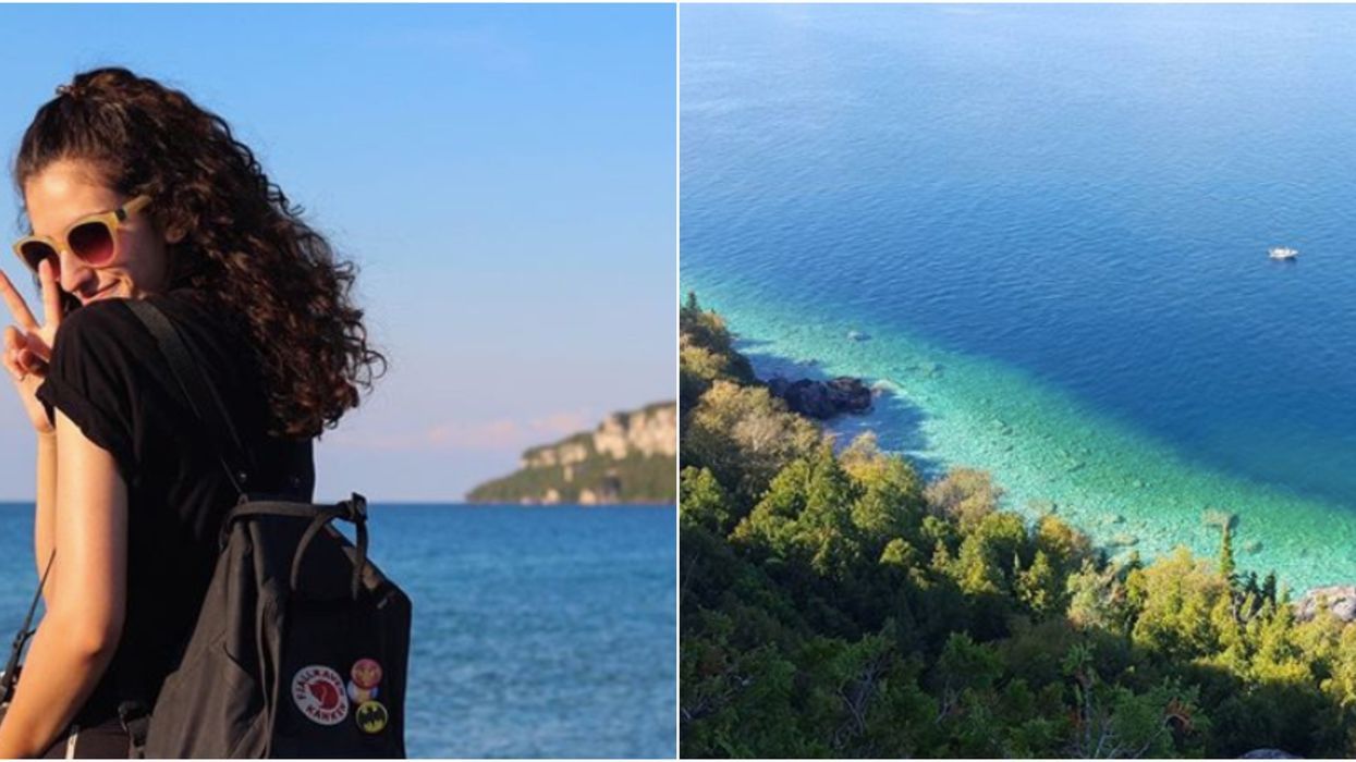 Cette plage d'eau turquoise en Ontario te donnera l'impression d'être sur la Côte d'Azur