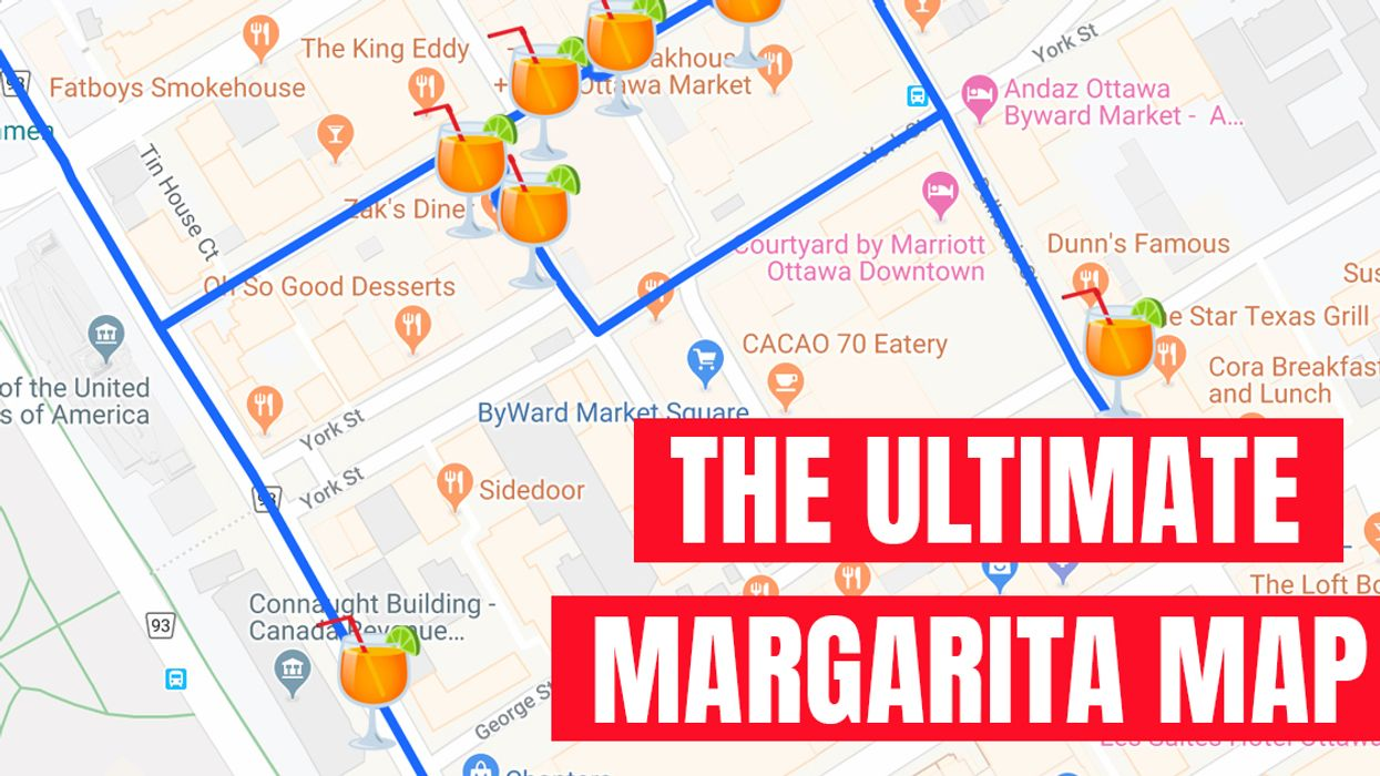 This Map Will Take You To The 14 Best Margarita Spots In Ottawa