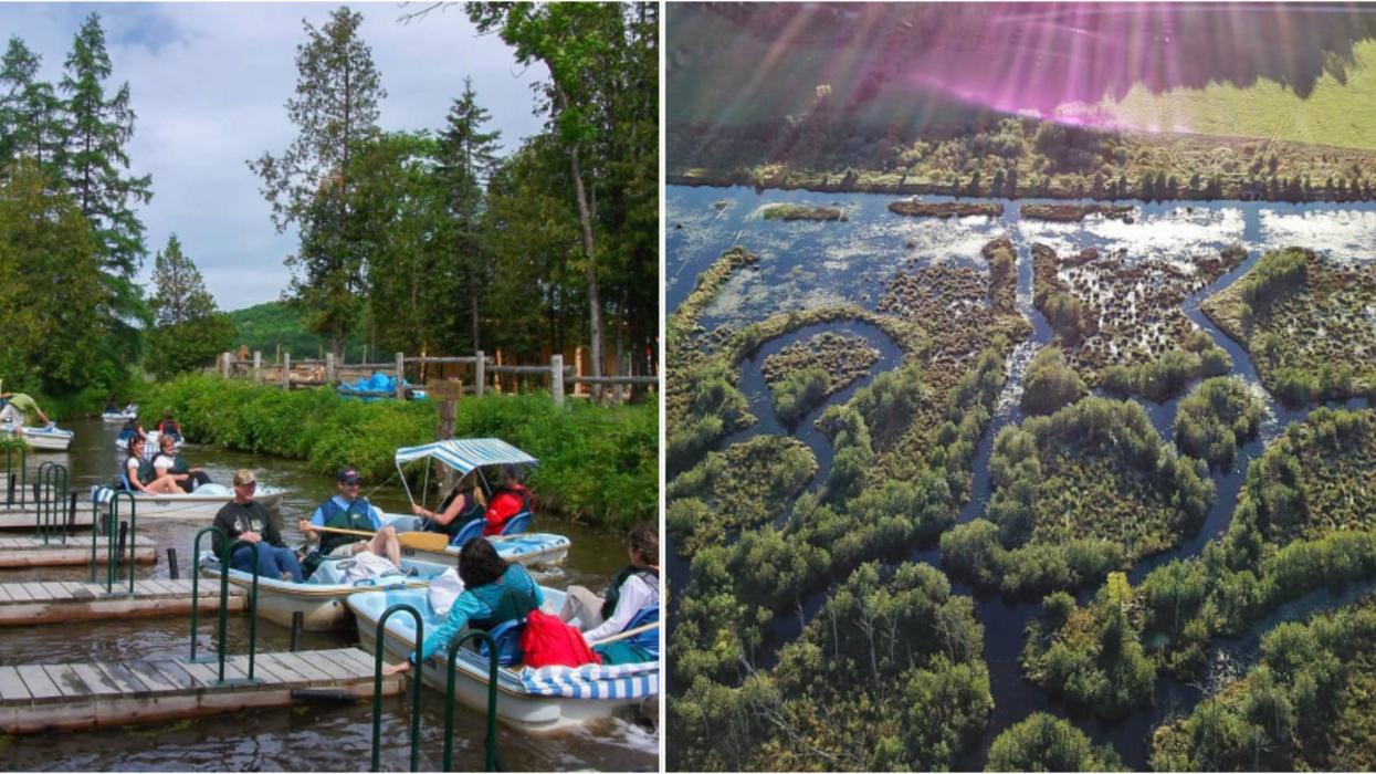 Tu peux faire un labyrinthe sur l'eau près de Gatineau et c'est l'activité d'été parfaite
