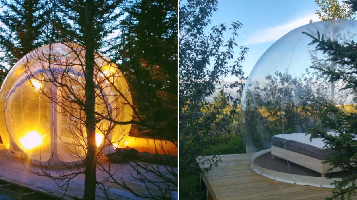 Tu peux passer une nuit de rêve dans une bulle à 1h de Montréal pour 33% moins cher