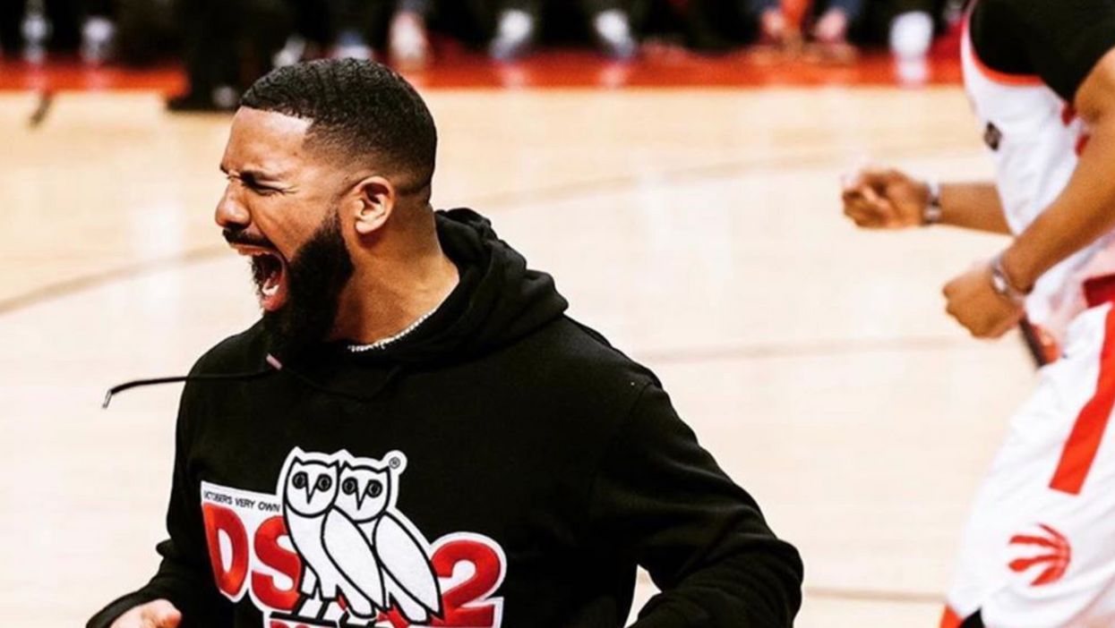 Drake Got Way Too Passionate In Toronto After Last Night's Game 5 Win (VIDEO)