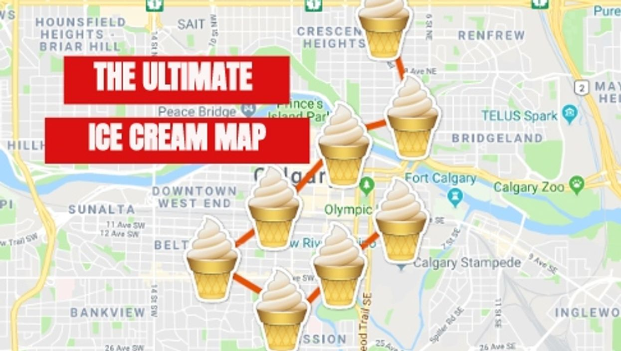 This Epic Map Will Take You To All The Best Ice Cream Spots In Calgary