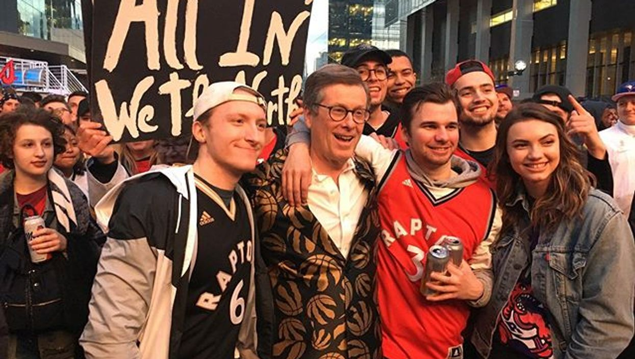 """John Tory Just Challenged All Of Toronto To """"Light Up The Streets"""" For The Raptors Tomorrow"""