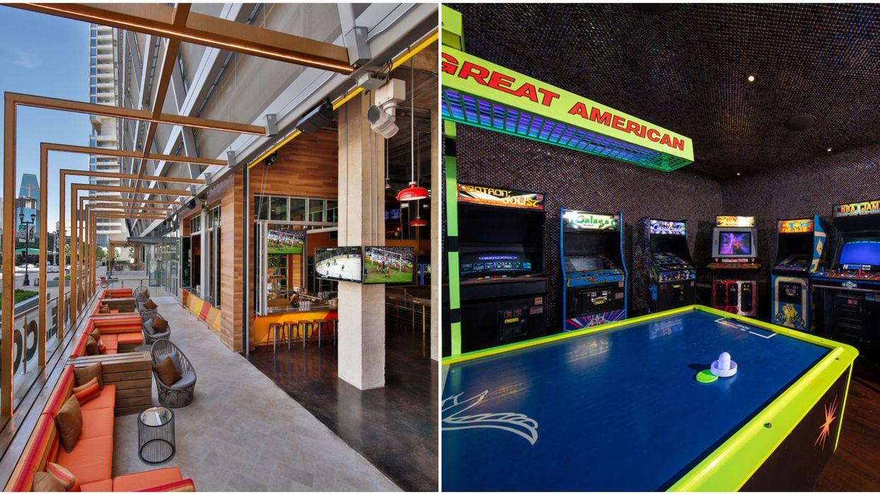 Dallas Just Got A Massive New Restaurant With A Retro Arcade And Five Bars