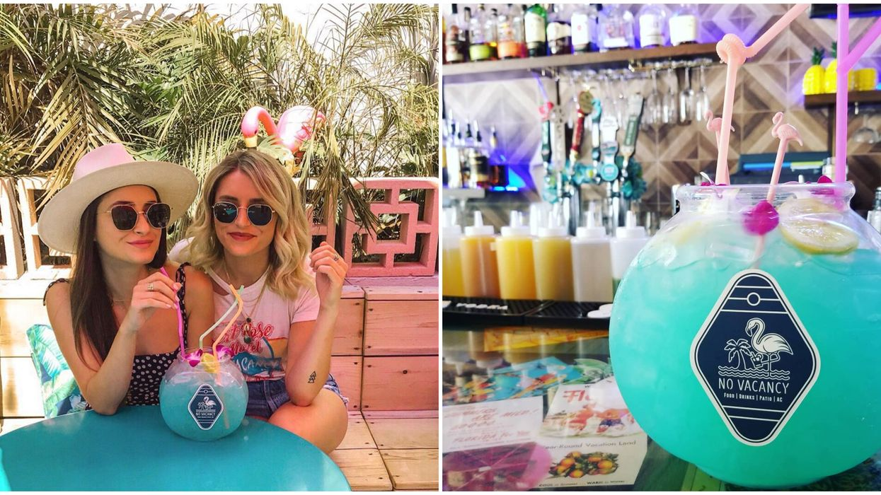 You Can Get A Giant Fishbowl Cocktail At This Trendy Bar In St. Pete