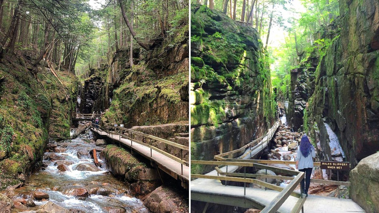 This 3 km Gorge Trail Will Lead You Past A Rushing Waterfall 3 Hours From Montreal