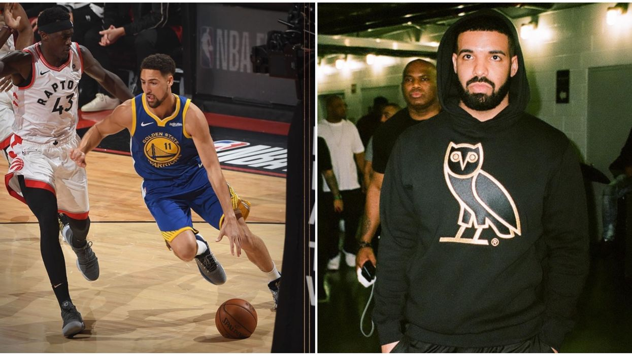 The Golden State Warriors Are Already Shading Drake & The Raptors In The Arena During The Pregame (VIDEOS)