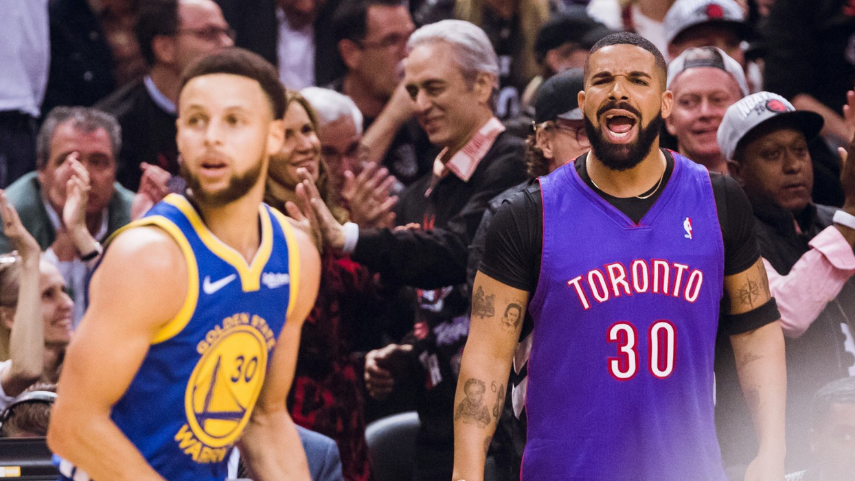 Drake Was MIA For The Raptors Game Tonight But That Didn't Stop Him From Trolling The Warriors (PHOTO)