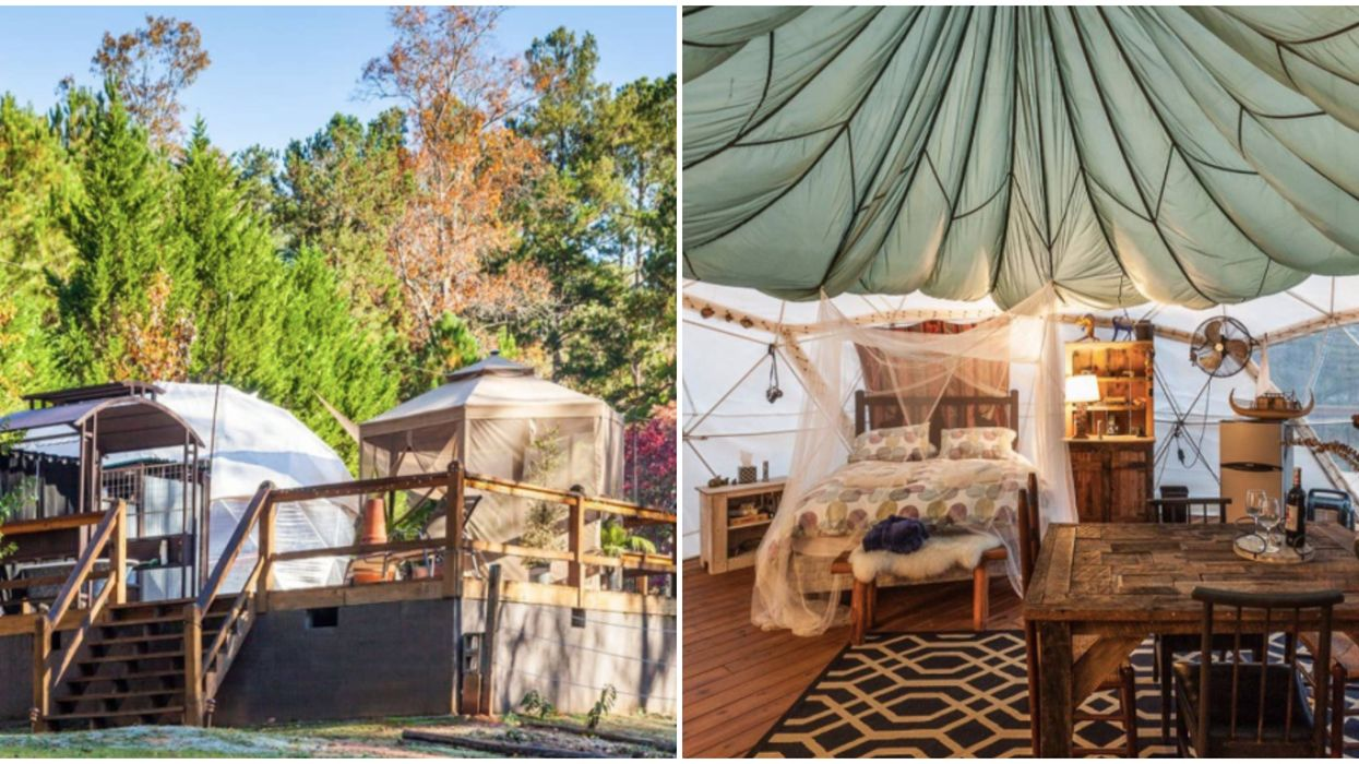 This Luxurious Glamping Dome In The Georgia Mountains Comes With An Outdoor Bathtub