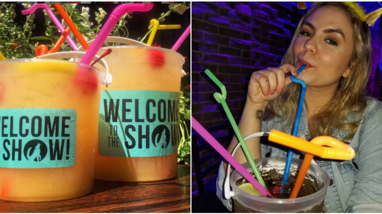 You Can Get An Enormous Cocktail In A Bucket For Super Cheap At This Houston Bar