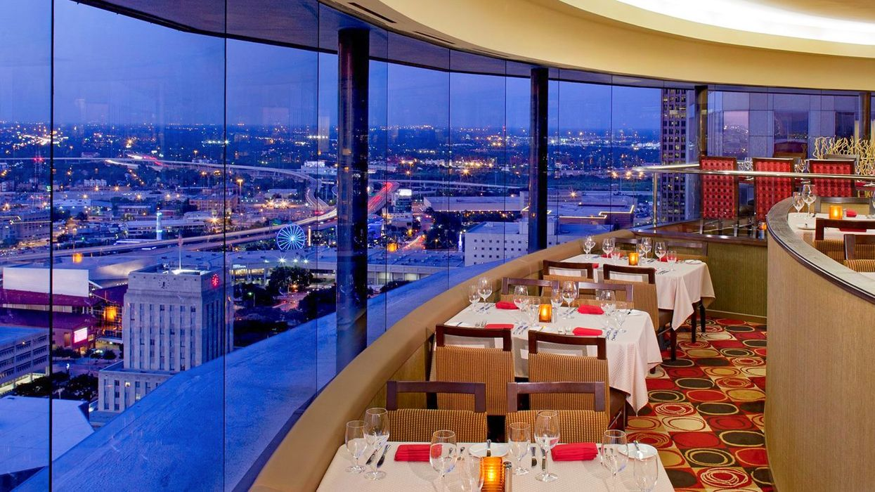 You Can Get A 360 Degree View Of The City At This Spinning Houston Restaurant