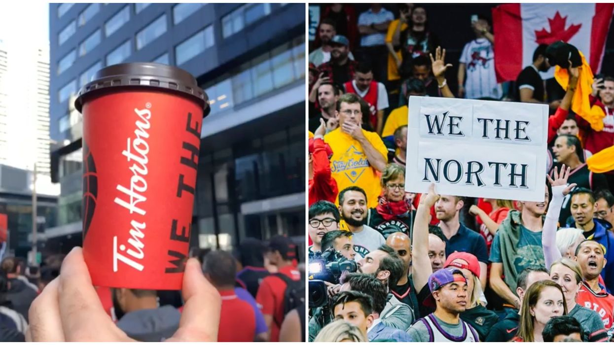 Toronto Man Gives Free Tim Hortons To Raptors Fans Waiting In Line At Jurassic Park (VIDEO)