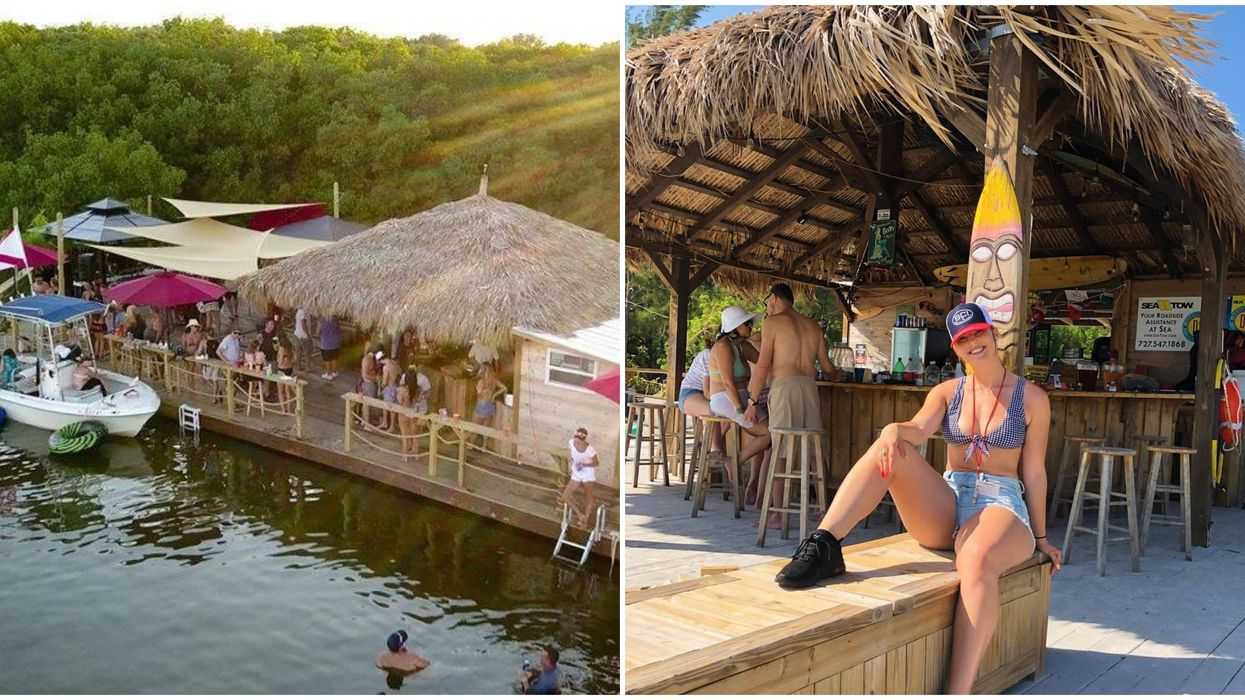 This Hidden Floating Island Tiki Bar Near Tampa Is A Tropical Paradise