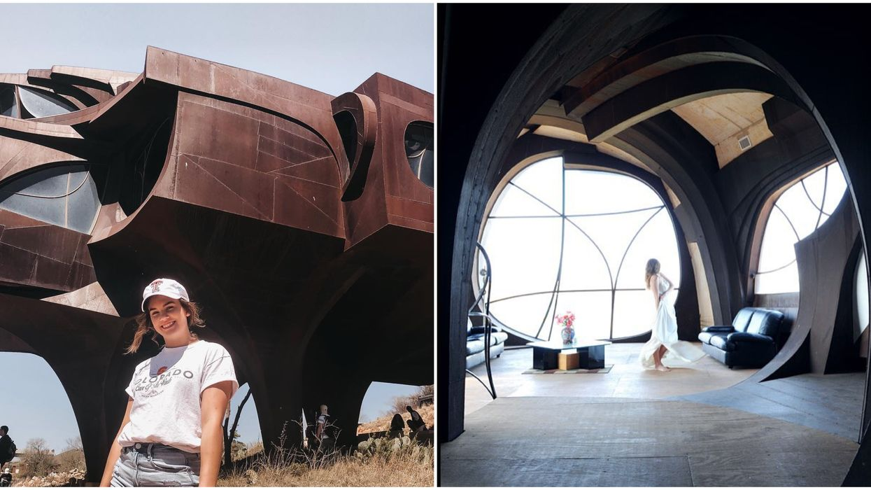 North Texas Has The Coolest Futuristic House On A Cliff That You Can Explore