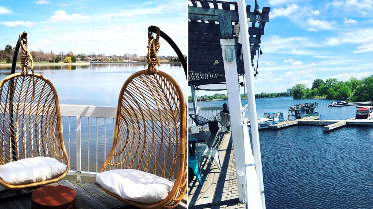 Ottawa Just Opened An All-New Patio Where You Can Sit By The Water On Swinging Chairs