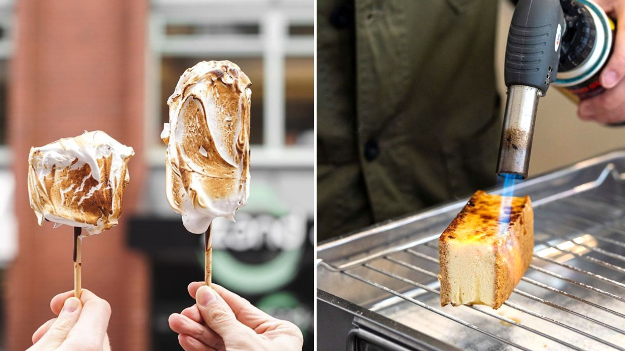 This Spot In Vancouver Makes Flame Torched Ice Cream Treats