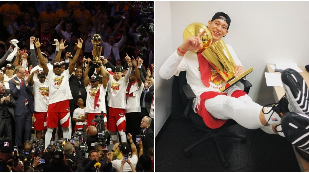 Raptors' Jeremy Lin Becomes The First-Ever Asian American To Win NBA Championship (PHOTOS)