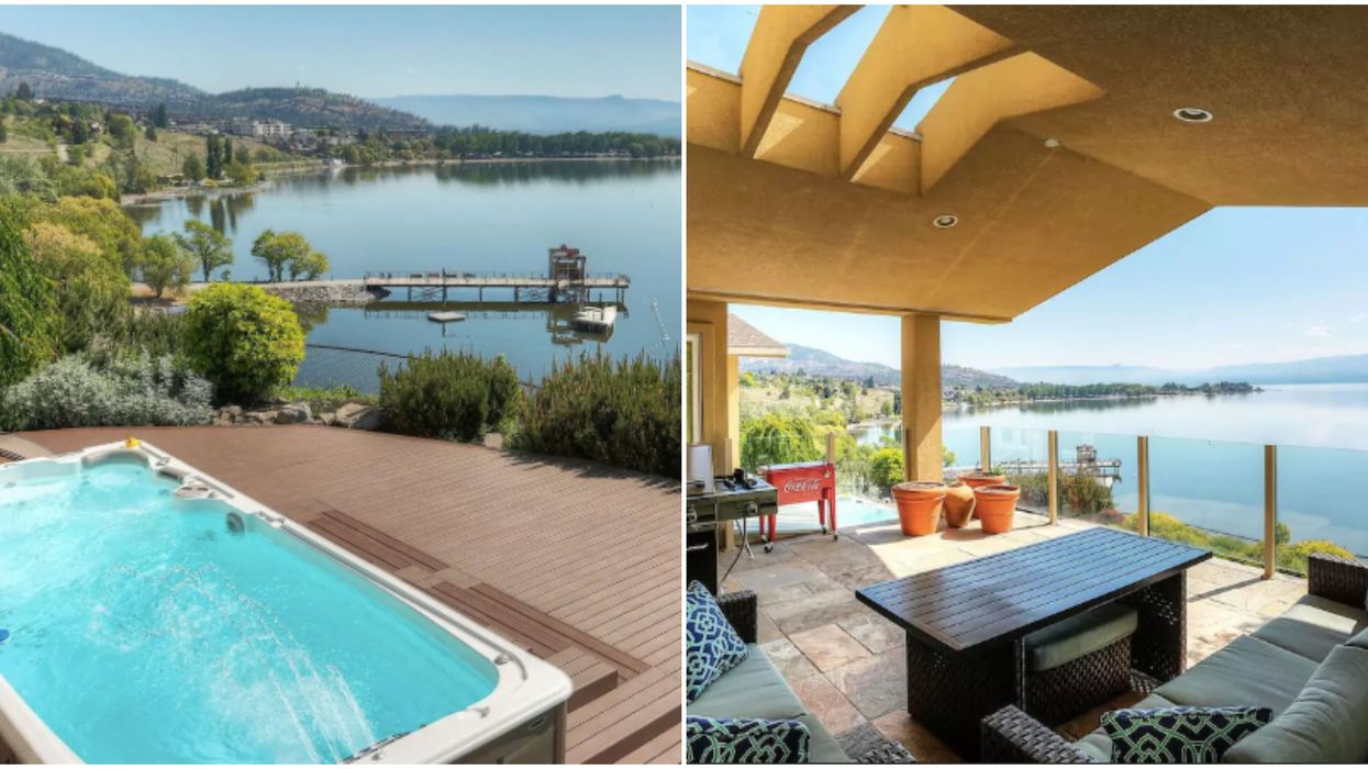 You Can Rent This Last-Minute BC Summer Getaway Spot With An Insane Lakefront Pool