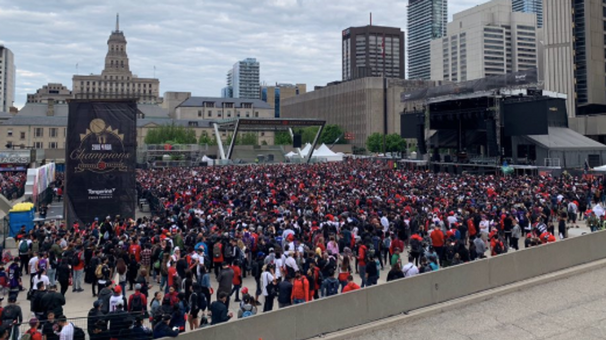 Raptors Fans Have Been Camping Out Since Saturday For Today's Victory Parade (PHOTOS)