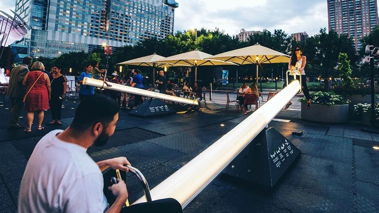 Downtown Houston Just Got Glow-In-The-Dark Seesaws That You Can Ride For Free