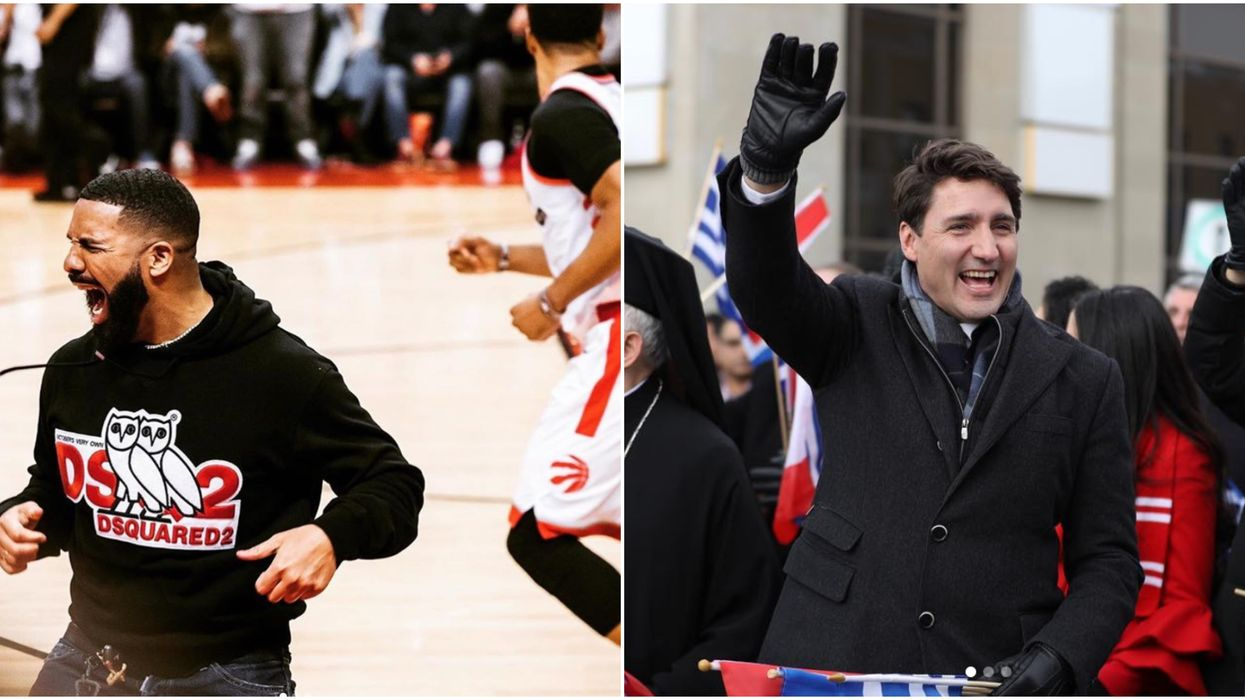 Justin Trudeau Got A Photo With Drake At Yesterday's Raptors Victory Parade So He's Clearly A Fan
