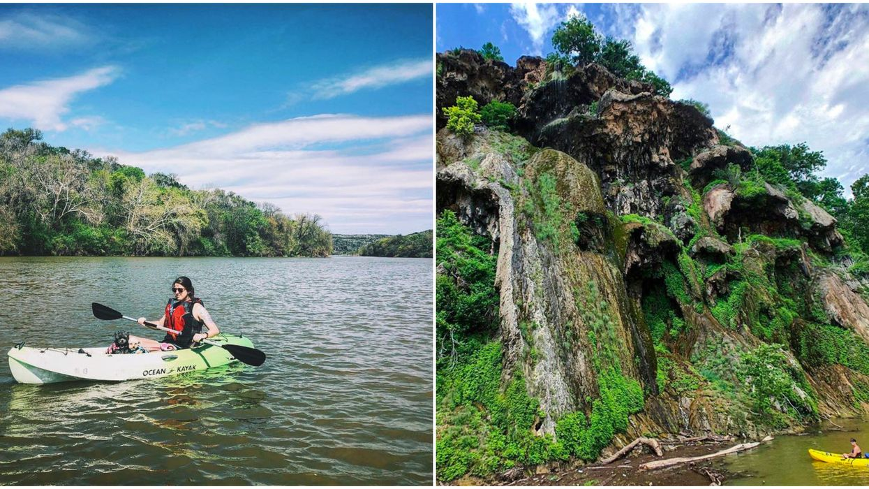 This Central Texas Park Has The Most Scenic Kayaking Experience