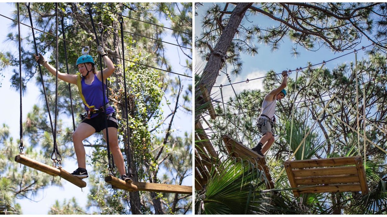 You Can Walk Among The Treetops At This Thrilling Aerial Obstacle Course In Florida