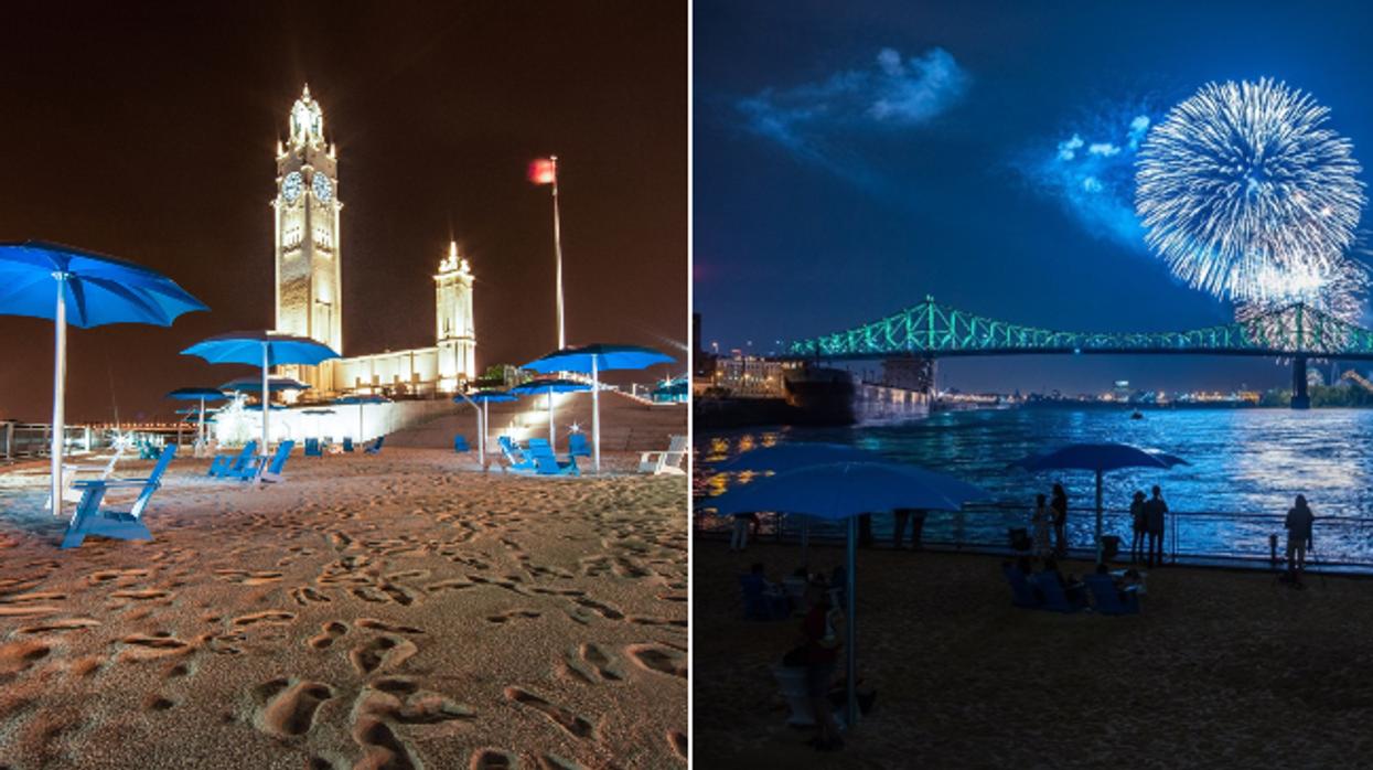 Un gros party sur la plage avec feux d'artifice et DJ aura lieu ce week-end à Montréal et tu vas triper