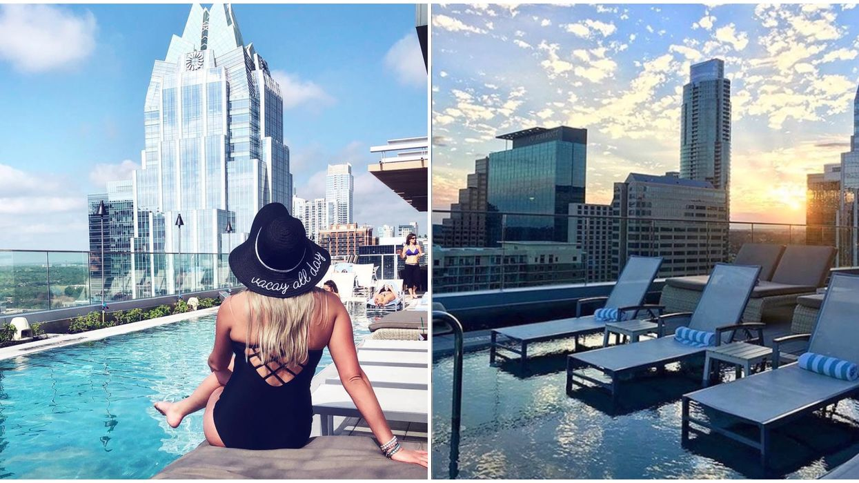 You Can Lounge At This Rooftop Pool And Bar With Incredible Views In Austin