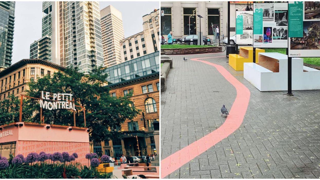 Ce nouveau chemin de briques roses à Montréal pique la curiosité et voici où il va te mener