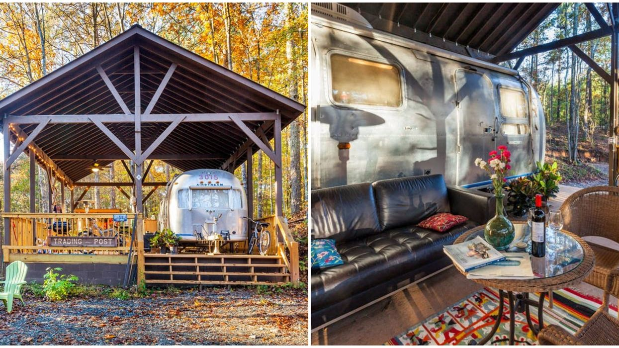 This Unusual Airbnb In The North Georgia Mountains Takes Glamping To A Whole New Level