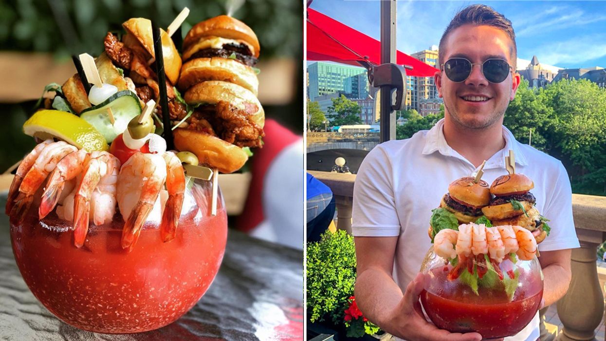You Can Get An Insanely Massive Caesar At This Patio On The Canal In Ottawa